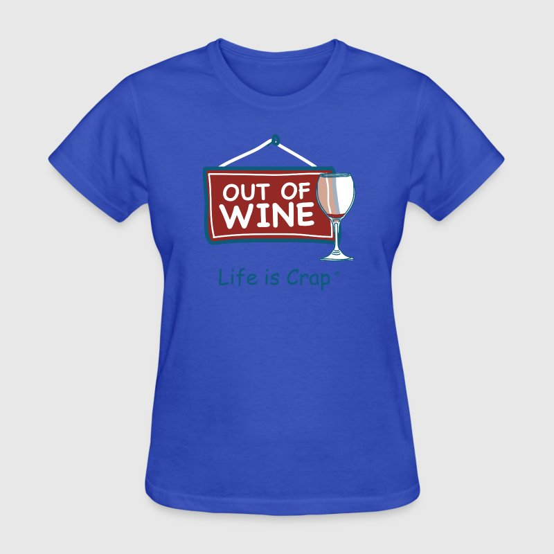 Out of Wine Glass - Women's T-Shirt
