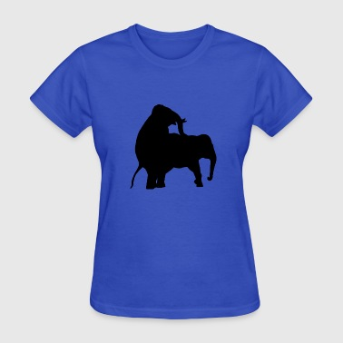 Sexy Elephant Elephant Sex - Women's T-Shirt
