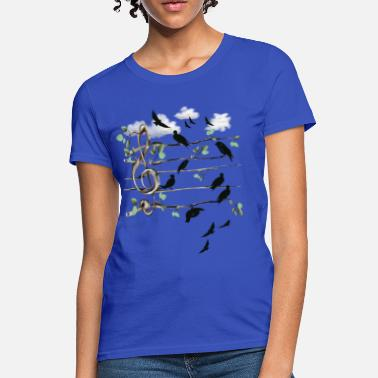 Birds Musical Note Birds  - Women's T-Shirt