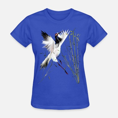 Bamboos Bird One Crane In Bamboo - Women's T-Shirt