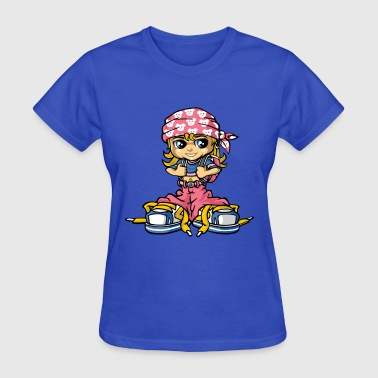 Hip hop girl and bandana - Women's T-Shirt