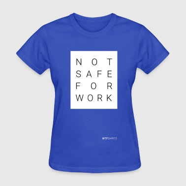Adults Porn NSFW, Not Safe For Work, adult content, porn - Women's T-Shirt
