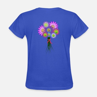 Hippie Girls Hippie Girl Floral - Women's T-Shirt