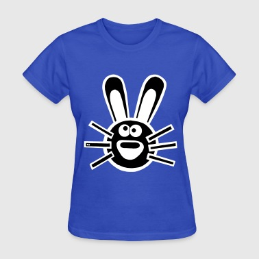 Hase Bunny Hare Comic rabbit easter statement cool - Women's T-Shirt