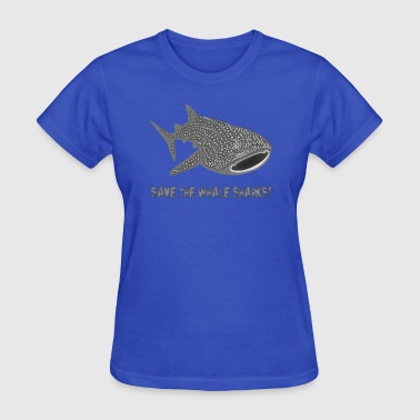 save the whale shark sharks fish dive diver diving endangered species - Women's T-Shirt