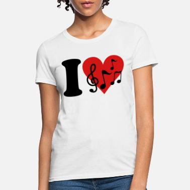 Claf I love Music - Notes - Women's T-Shirt