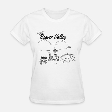 Boobs Rip No Place Like Beaver Valley boobs - Women's T-Shirt