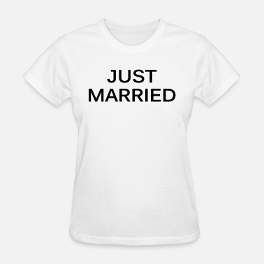 Just Married Nerd Just Married Tee Top Wifey Couple Gift Fashion Fre - Women's T-Shirt