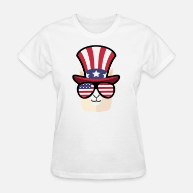 Happy Llama Llama Happy 4th Of July - Women's T-Shirt