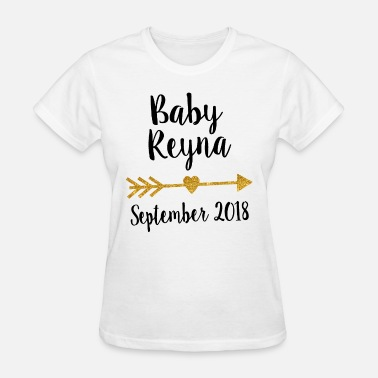 Lesbian Pregnancy Pregnancy announcement bodysuit pregnancy announce - Women's T-Shirt