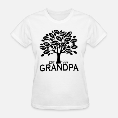 Grandkids Custom Grandpa or Grandma Family Tree with all Gra - Women's T-Shirt