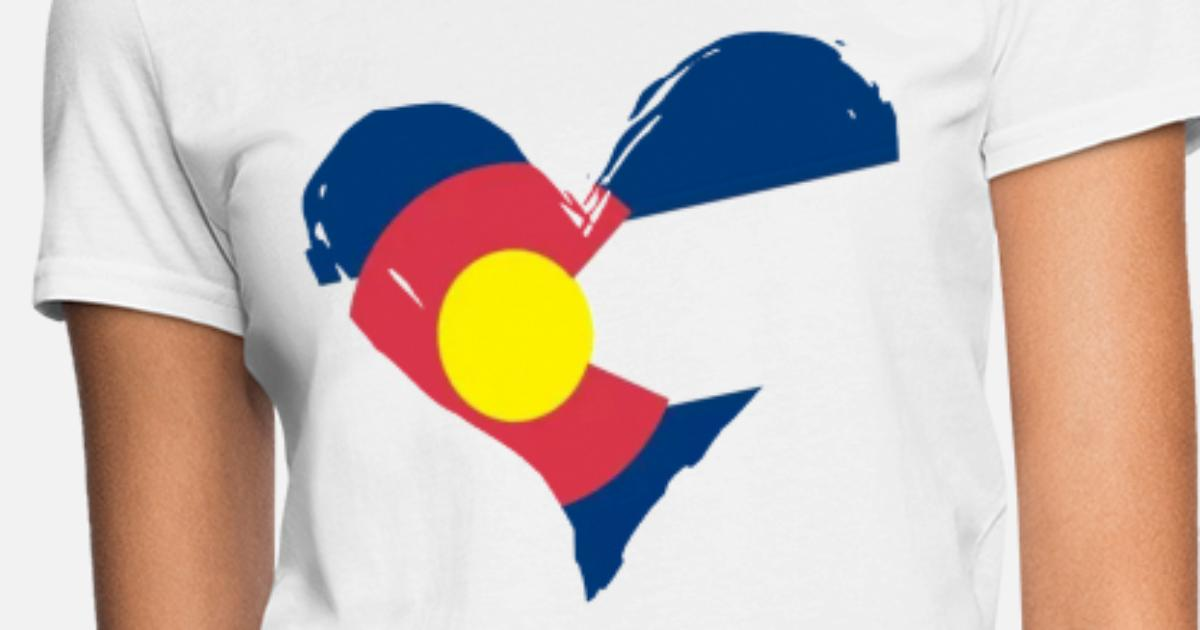 49294eddf8b Women s Colorado Flag Heart Colorado Women s T-Shirt