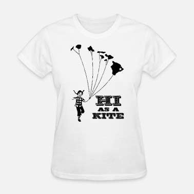 Hi Men s Hawaii HI as a Kite Retro Vintage Revival Te - Women's T-Shirt