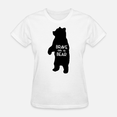 Boston Braves Brave as a Bear Screenprint Kids Tee Bear Toddler - Women's T-Shirt