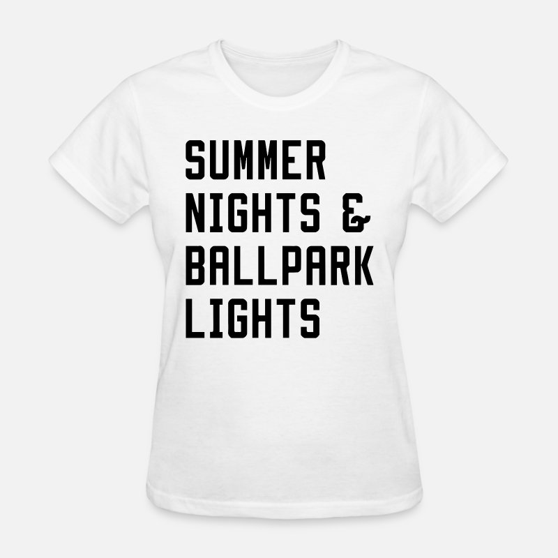 7194d6e5c26 Softball Grandma T-shirts T-Shirts - Summer Nights and Ballpark Lights  Baseball Mom