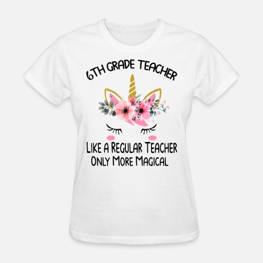Batman Teacher sisth grade teacher like a regular teacher only mo - Women's T-Shirt