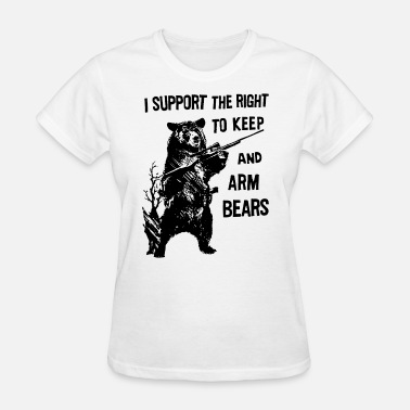 Funny Mouse Trap Amendment Support the Right To Arm Bears Funny Hun - Women's T-Shirt