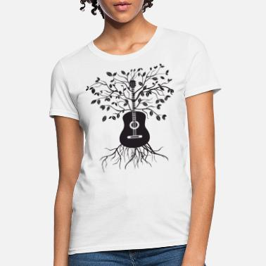 Baby &amp Acoustic Guitar Tree Electric Bass Amp Strings mus - Women's T-Shirt