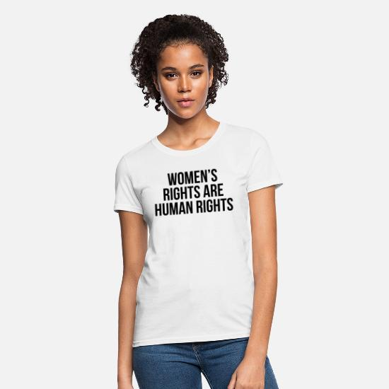 Human Rights T-Shirts - Women's rights are human rights - Women's T-Shirt white