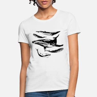 Whale Watching Whales Save The Whales Vintage Whale Watching Ocea - Women's T-Shirt