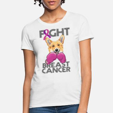Breast Cancer Month Fight Breast Cancer Corgi Breast Cancer Month - Women's T-Shirt