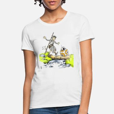 BB8 and Rey / Calvin and Hobbes Crossover - Women's T-Shirt