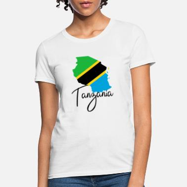 Tanzania Tanzania - Africa - Country - Flag - Borders - Map - Women's T-Shirt