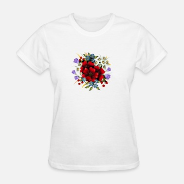Awesome colored Flowers - Women's T-Shirt