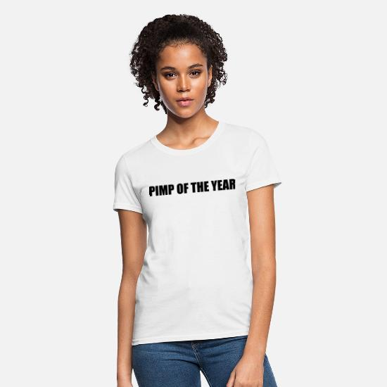 Dog T-Shirts - Pimp of the year - Women's T-Shirt white