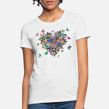 Butterfly heart and butterflies - Women's T-Shirt