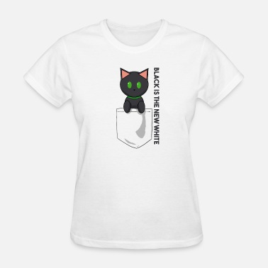 Metal Slogans Pocket Cat Black slogan - Women's T-Shirt
