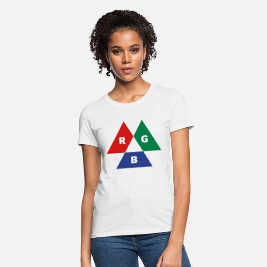 Photographer T-Shirts - RGB Mode (Red - Green - Blue) - Women's T-Shirt white