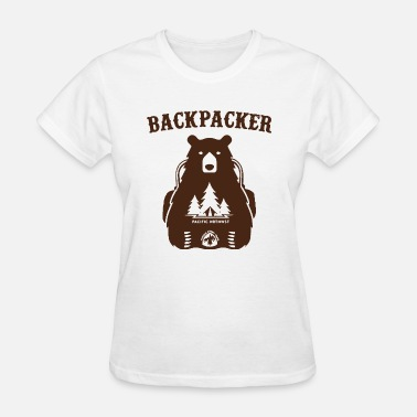 Backpacker Puns Backpacking Bear Funny Hiking Saying Gift For Hike - Women's T-Shirt