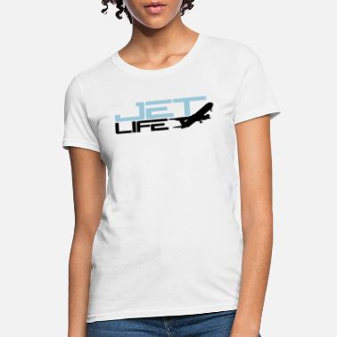 Jetset airplane logo jet life text saying design jetset l - Women's T-Shirt