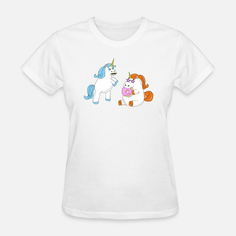 Womens T Shirtunicorn DAD DAUGHTER DONUT FUNNY BIRTHDAY GIFT