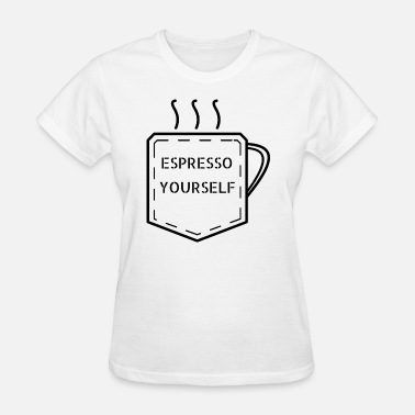 Outline Graphics Espresso Yourself Breast Pocket Outline Graphic - Women's T-Shirt