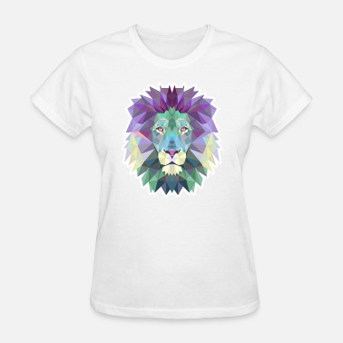 Polygonal Animal Polygonal Lion - Women's T-Shirt
