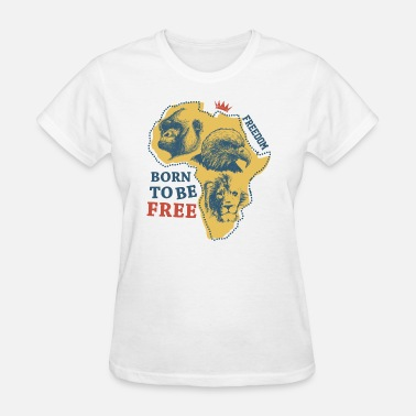Freedom Africa Africa animal freedom vector image inscription art - Women's T-Shirt