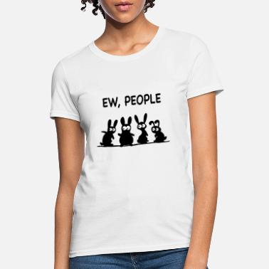 Cat Mask Ew humans cat ew people sweater rabbit rabbit ew - Women's T-Shirt