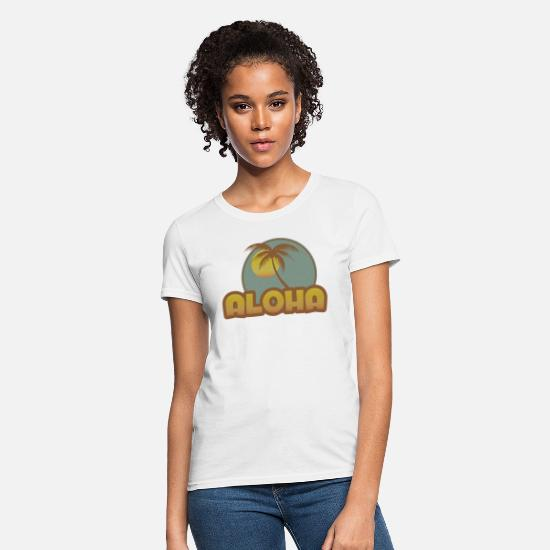 Hawaii T-Shirts - Aloha Palm - Women's T-Shirt white