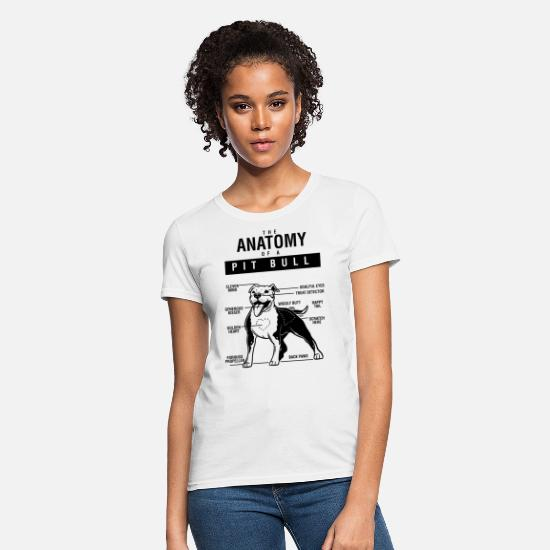 Dogs T-Shirts - PITBULL DOG - Women's T-Shirt white