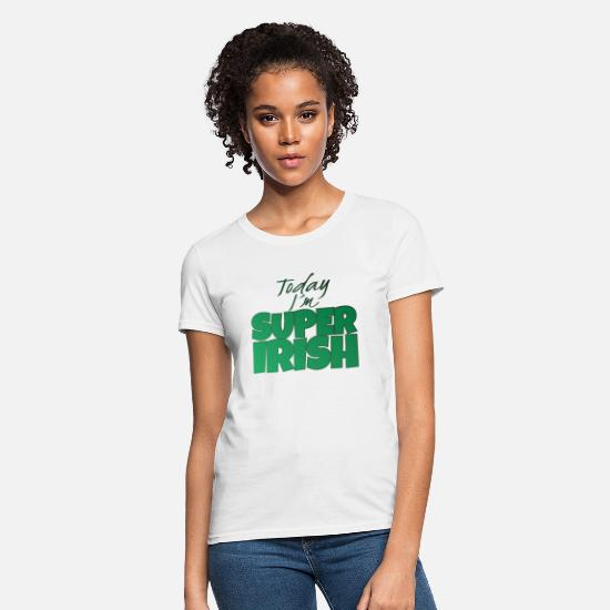 Gift Idea T-Shirts - Super Irishman St. Patrick's Day Green Party Beer - Women's T-Shirt white
