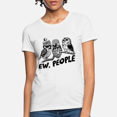 ew people animal sound black owl - Women's T-Shirt