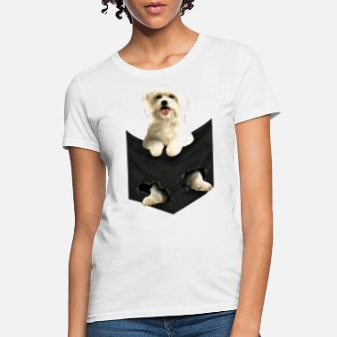 Pocket Maltese Pocket Mid Classic dogs - Women's T-Shirt