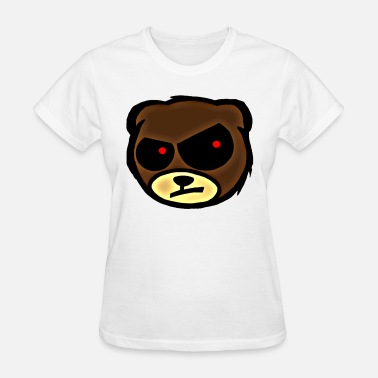 Angry sound_like_emo_music ANGRY Teddy Bear - Women's T-Shirt