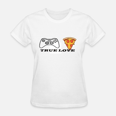 pizza and games true love - Women's T-Shirt