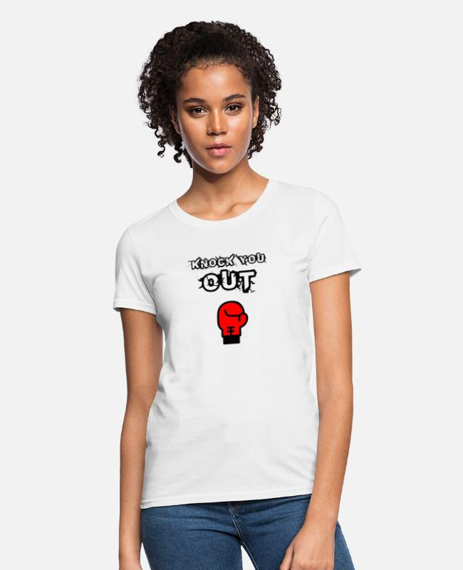Knock T-Shirts - Knock You Out - Women's T-Shirt white
