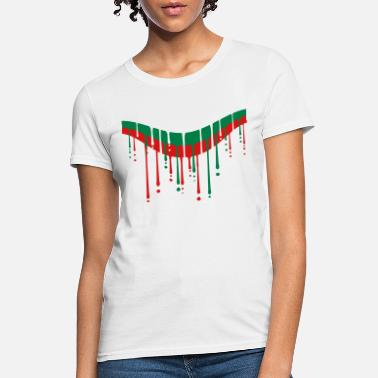 Green bulgaria white green red drop graffiti brush strok - Women's T-Shirt