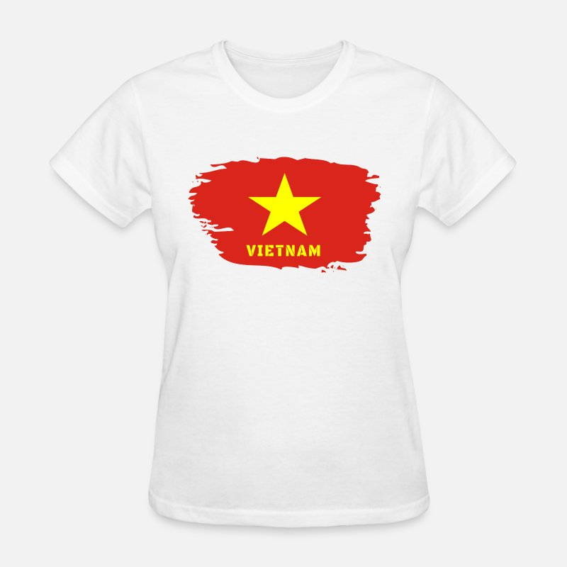 d121d48b99a Patriot T-Shirts - Vietnam Flag - Women s T-Shirt white
