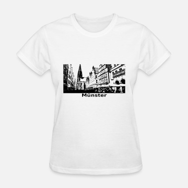 Imprint City Münster City Gift Idea View City - Women's T-Shirt